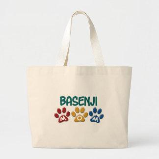 BASENJI MOM Paw Print Tote Bags