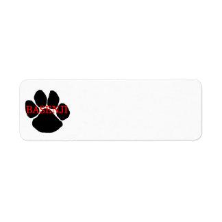 basenji name paw return address label