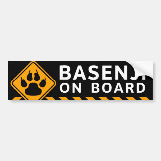 Basenji On Board Bumper Sticker