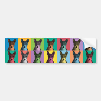Basenji Pop-Art Bumper Sticker