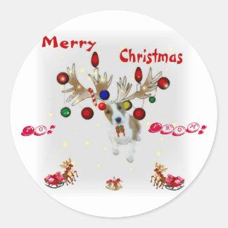 Basenji Reindeer Gift Tags