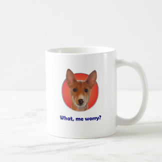 Basenji worry coffee mug