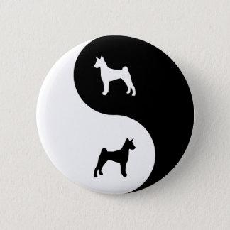 Basenji Yin Yang 2 Inch Round Button