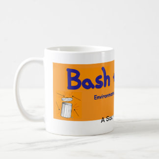 Bash the Trash orange mug