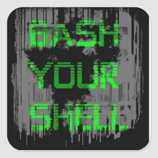Bash Your Shell pc laptop decal Square Sticker