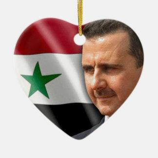Bashar al-Assad بشار الاسد Ceramic Heart Ornament