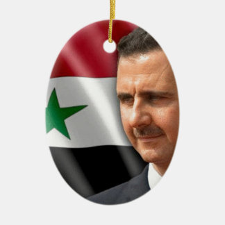 Bashar al-Assad بشار الاسد Ceramic Oval Ornament