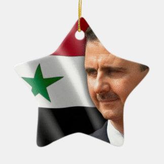 Bashar al-Assad بشار الاسد Ceramic Star Ornament
