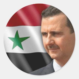 Bashar al-Assad بشار الاسد Classic Round Sticker
