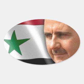 Bashar al-Assad بشار الاسد Oval Sticker
