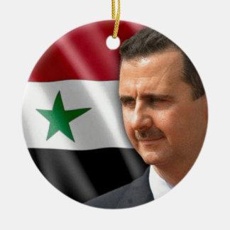 Bashar al-Assad بشار الاسد Round Ceramic Ornament