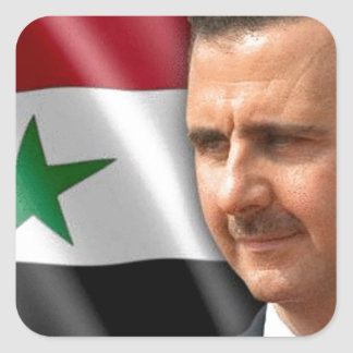 Bashar al-Assad بشار الاسد Square Sticker