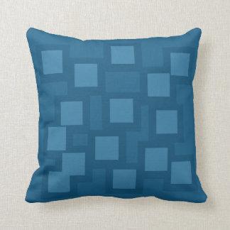 Bashful Blue Pillow/Cushion Vers 1 Squares Throw Pillow