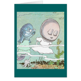 Bashful Clam Scolded by Fish Card