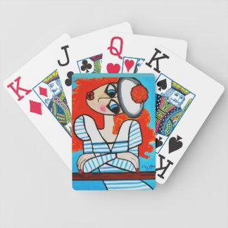 BASHFUL GIRL BICYCLE PLAYING CARDS