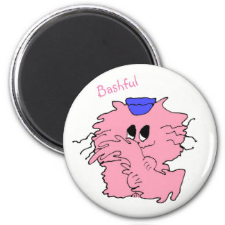 Bashful mood magnet