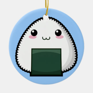 Bashful Onigiri Ceramic Ornament
