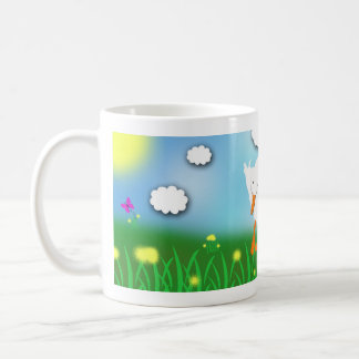 Bashful Pekin Duck Whimsical Cartoon Mug