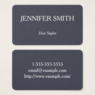 Basic and Clean Hair Stylist Business Card