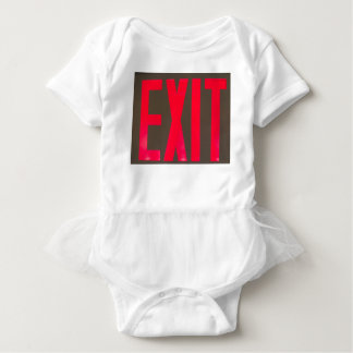 Basic beg red letter exit sign baby bodysuit