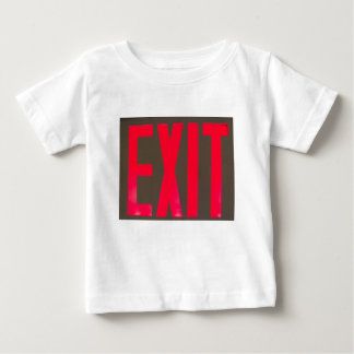 Basic beg red letter exit sign baby T-Shirt