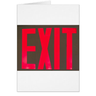 Basic beg red letter exit sign card
