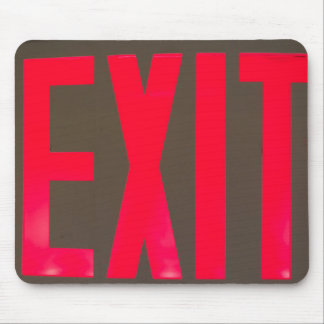 Basic beg red letter exit sign mouse pad