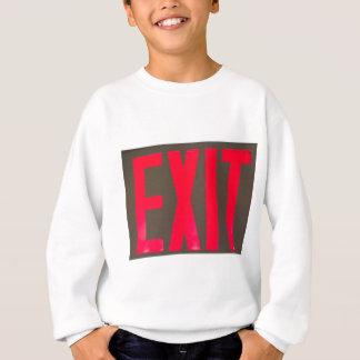 Basic beg red letter exit sign sweatshirt