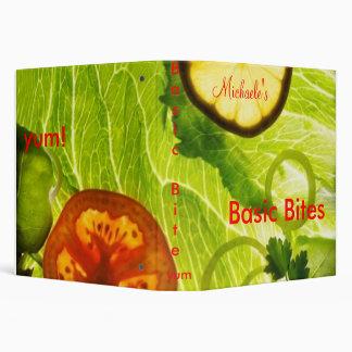 Basic Bites Cook book 3 Ring Binders