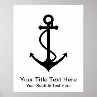 Basic Black Anchor Poster