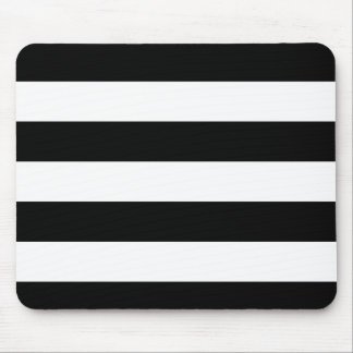 Basic Black and White Stripes Mouse Pad