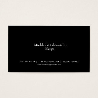 Basic Black Lawyer/Attorney Business Card