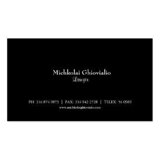 Basic Black Lawyer/Attorney Business Card