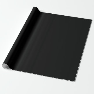 Basic Black Wrapping Paper