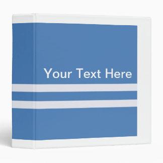 Basic Blue and White Vinyl Binder