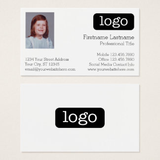Basic Business Design with Logo and Photo Business Card