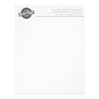 Basic Business Letterhead with Gray Type and Logo
