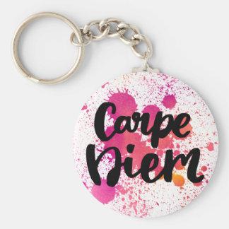 Basic Button Keychain - Carpe Diem
