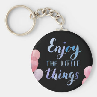 Basic Button Keychain - Enjoy