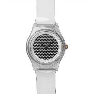 Basic Chevron Pattern in Black and White Watch
