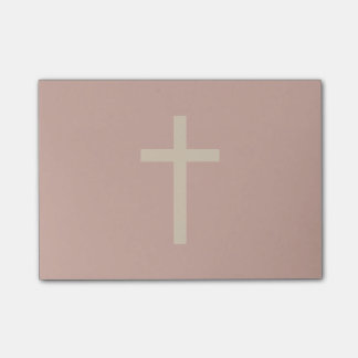 Basic Christian Cross Golden Ratio Rusty Brown Post-it Notes