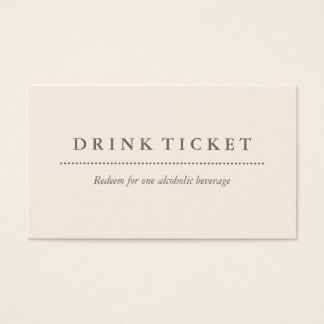 Basic Clean Eggshell Brown Drink Ticket