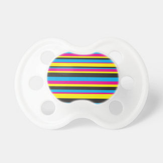Basic Color Stripes Baby Pacifier
