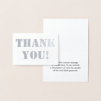 "Basic, Customizable, and Plain ""Thank You!"" Card"