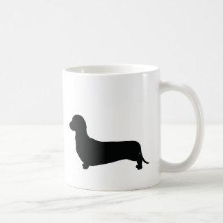Basic Dachshund Silhouette Coffee Mug