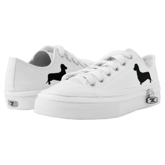 Basic Dachshund Silhouette Low-Top Sneakers