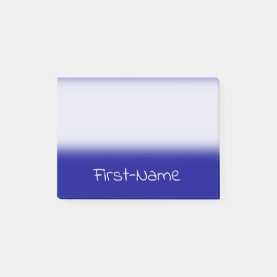 Basic Dark Blue Background and Light Grey Name Post-it Notes
