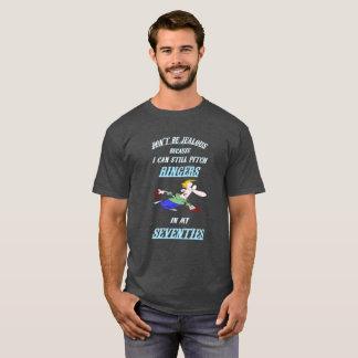 Basic Dark HorseShoe Pitching Tee- Seventies T-Shirt