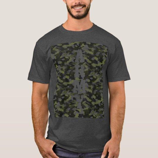 Basic dark tee-shirt for man, Camouflage T-Shirt