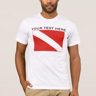 Basic Dive Flag Template Shirt